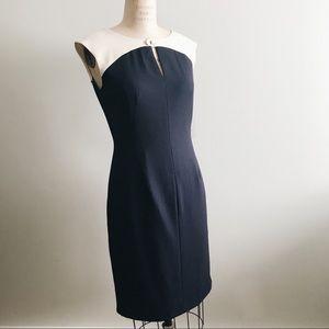 NWT Calvin Klein Navy Color Block Dress